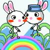 Rainbow Rabbit Adventure 4 - Rabbit Games,jump Games,skill Games,adventure Games